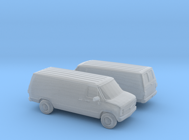 1/120 1988 Chevrolet G Series Van in Smooth Fine Detail Plastic