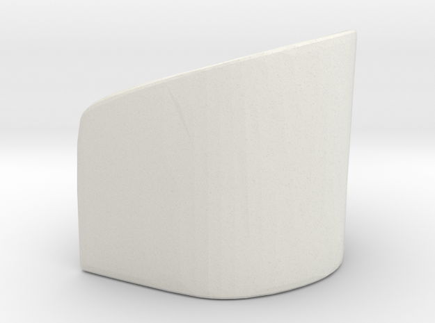Rounded Chair 1/12 in White Natural Versatile Plastic