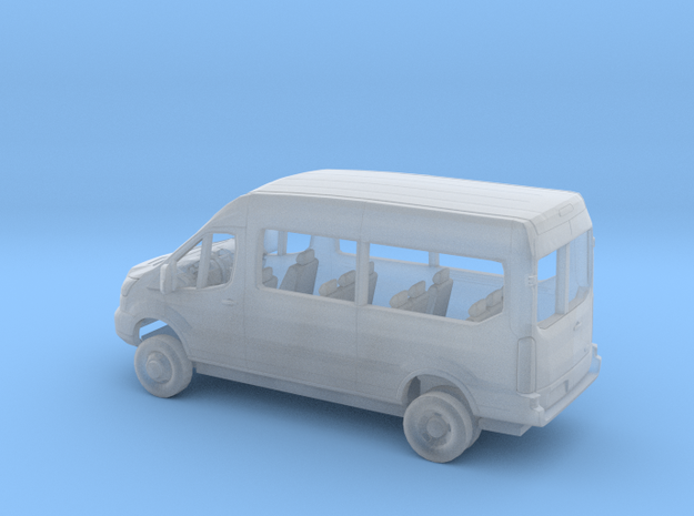 1/87 2018 Ford Transit Mid Roof Van Dually Kit in Smooth Fine Detail Plastic