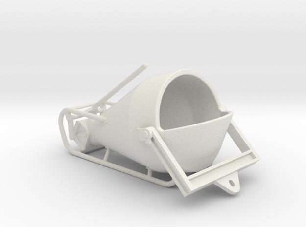 1-50 Concretebucket 1250L Transport in White Natural Versatile Plastic