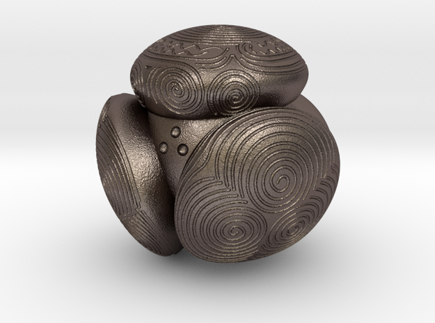 Towie Stone Ball - 45 mm in Polished Bronzed-Silver Steel