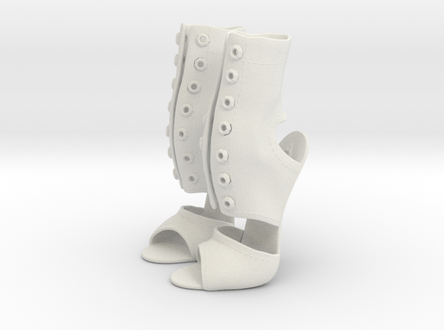 girl-sandal boot upper1 in White Natural Versatile Plastic