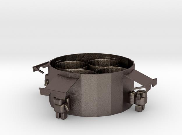 Storage Box in Polished Bronzed-Silver Steel