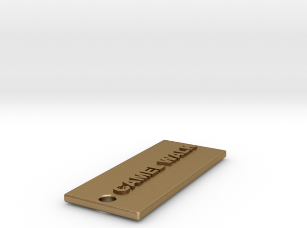 CAMELWALKMEATSTICK in Polished Gold Steel