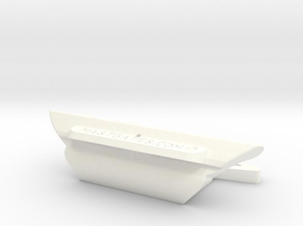 """DM5 MastGate, slot= 27/8"""", trapezoid cut in White Processed Versatile Plastic"""