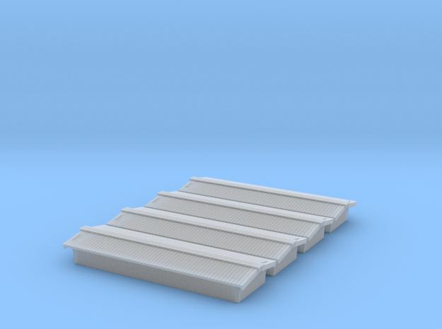 Civil War Era - Standard Peaked Roof (4-pack) in Smooth Fine Detail Plastic