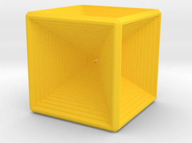Infinity cube in Yellow Processed Versatile Plastic