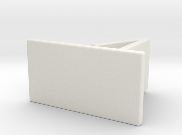 Phone holder in White Natural Versatile Plastic: Medium
