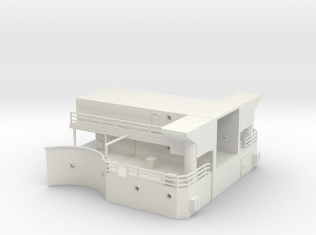 1/144 USS BB59 MK51 Platform (bellow part) in White Natural Versatile Plastic