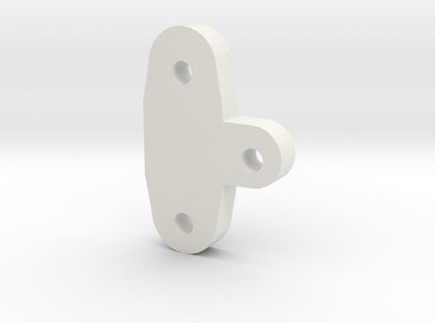 TRIKE 1.0 C-Hub height spacer 4mm in White Natural Versatile Plastic
