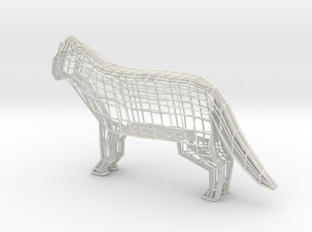 Wireframe cat in White Natural Versatile Plastic