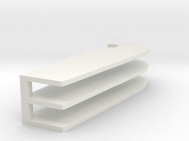 Micronauts Rocket Tubes Xing Wing Hook in White Natural Versatile Plastic: Medium
