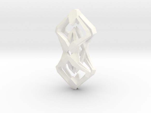 """head to head, heart to heart"" SHARP, pendant 3d printed"