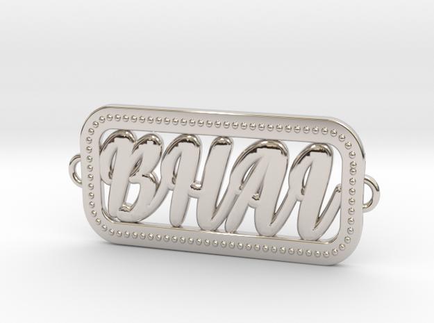 Rakhi for Brother BroKT-02 3D Printing Model in Rhodium Plated Brass