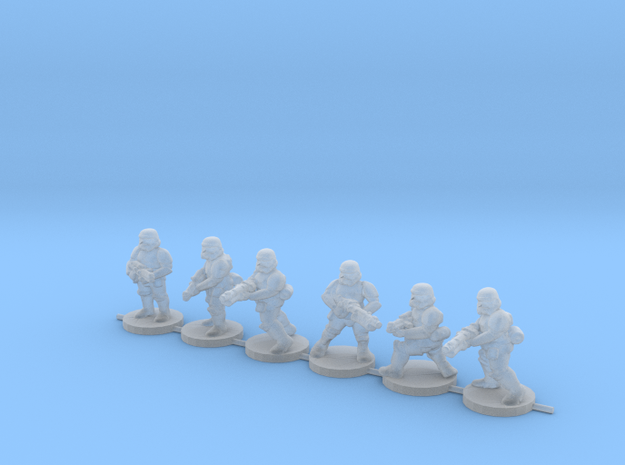 15mm Knights Squad 5 in Smooth Fine Detail Plastic