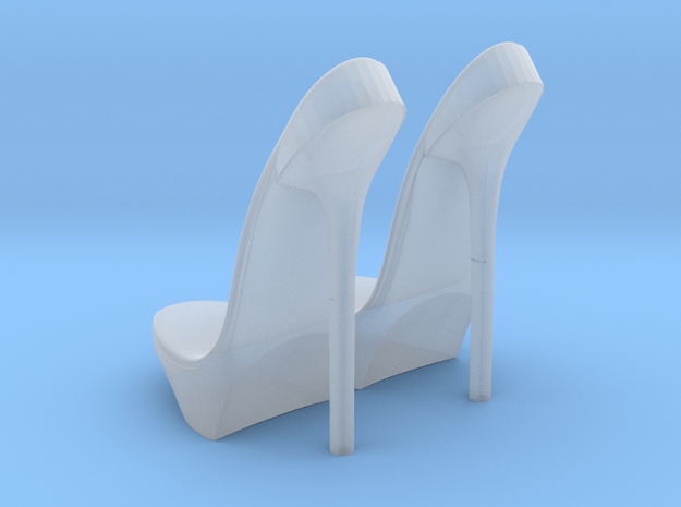 girl-platform sole base-heel2 in Smooth Fine Detail Plastic
