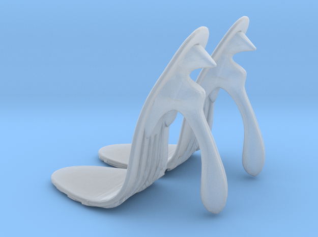girl-sole base+heel egg1 in Smooth Fine Detail Plastic