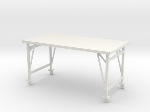 1:24 Industrial Table in White Natural Versatile Plastic