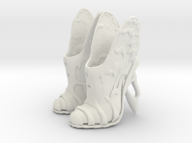 girl- butterfly boots 2 in White Natural Versatile Plastic