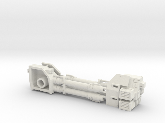 Dreadnought Autocannon 2 left arms in White Natural Versatile Plastic