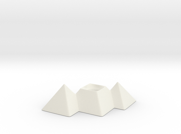Great Pyramids Pencil Holder in White Strong & Flexible