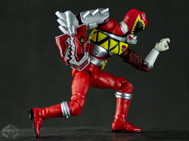 Dino Charge Red: Trex Smasher in White Natural Versatile Plastic