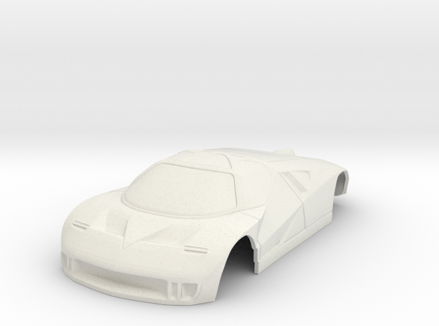 Ford GT90 Concept Car miniZ 102mm Wide in White Natural Versatile Plastic