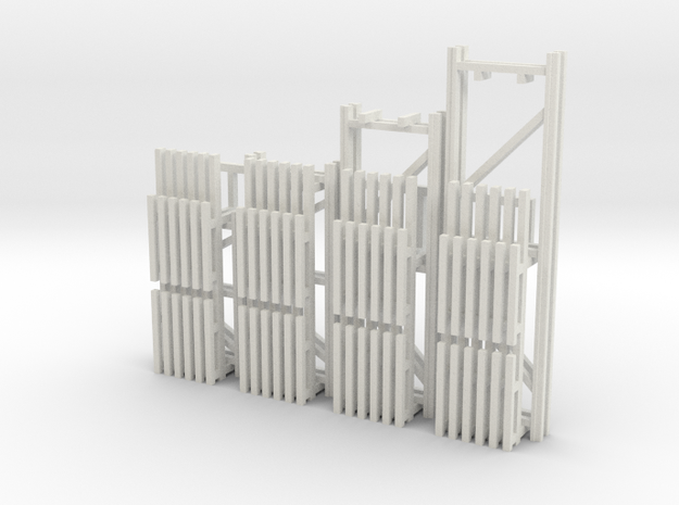 42X144-120-96-72 X 96 Beam Kit 1-87 HO Scale in White Natural Versatile Plastic