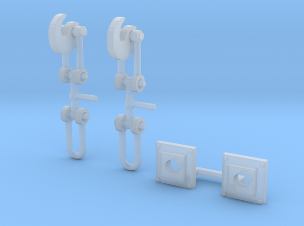 OO Scale Screw Link Couplings and Bases V2 in Smoothest Fine Detail Plastic