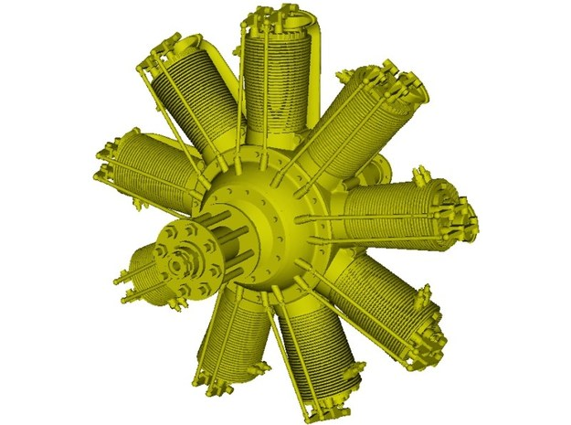 1/16 scale Clerget 9B 130 Hp radial engine x 1