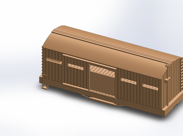 S USMRR ARMORED BOXCAR in White Natural Versatile Plastic