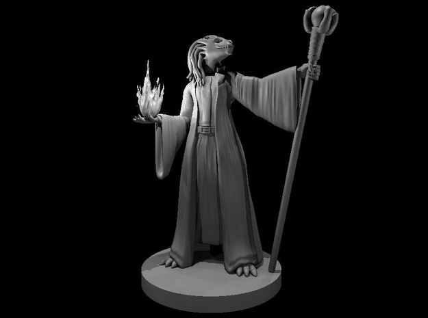 Dragonborn Female Sorcerer 2 in Smooth Fine Detail Plastic