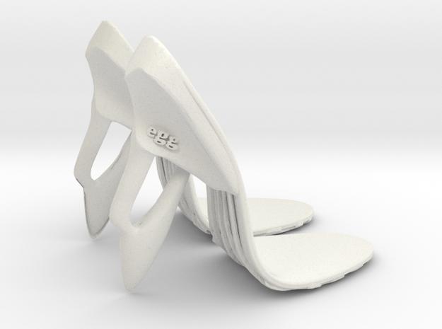 girl-sole base+heel egg2 in White Natural Versatile Plastic