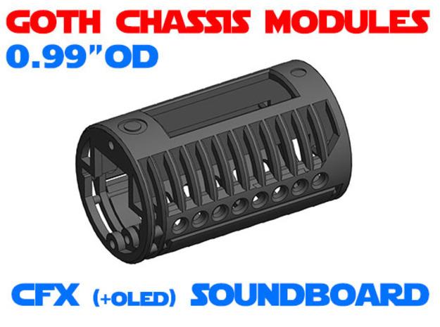 GCM099 - CFX soundboard chassis in White Natural Versatile Plastic