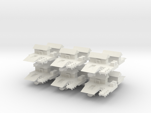 1/285 WW2 Sea Plane Base (x12) in White Natural Versatile Plastic