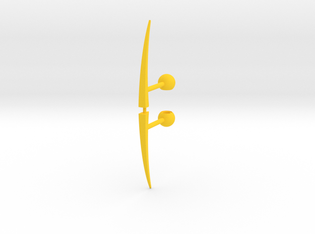 Acroscythe Weapons in Yellow Processed Versatile Plastic
