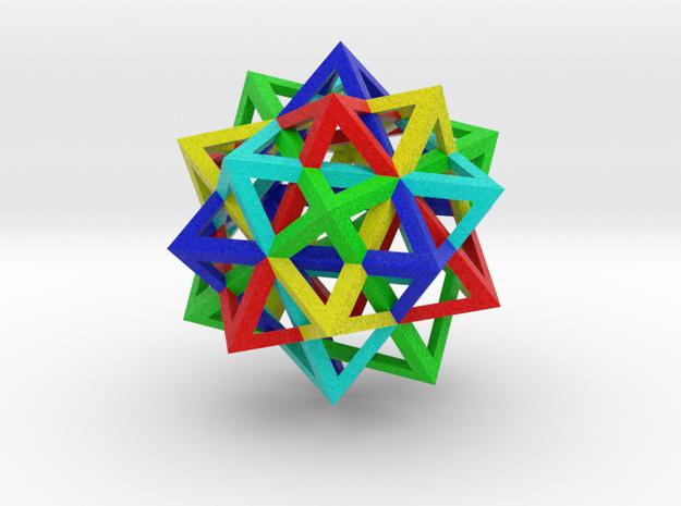 5 Octahedron Compound in Natural Full Color Sandstone