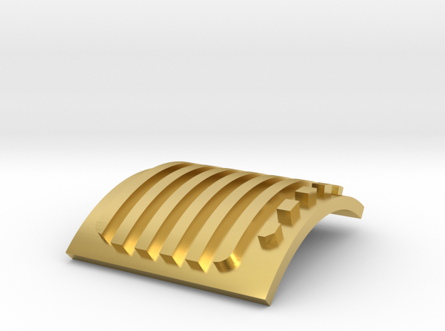 KR Flagship Main side vent RH (part 6 of 8) in Polished Brass