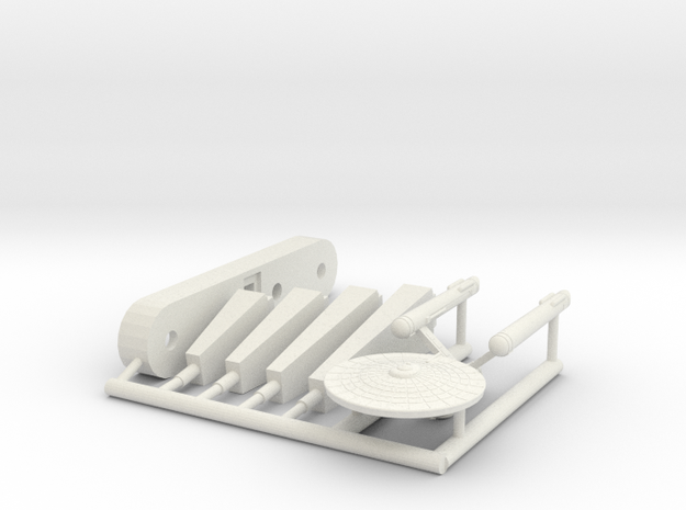 6k Constitution Heavy Cruiser in White Natural Versatile Plastic