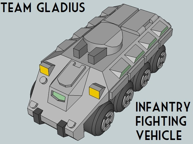 """Team Gladius"" 3mm Wheeled IFVs (24pcs) in Smooth Fine Detail Plastic"