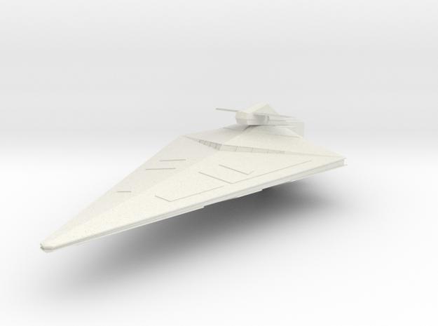 Imperial II-class frigate in White Natural Versatile Plastic