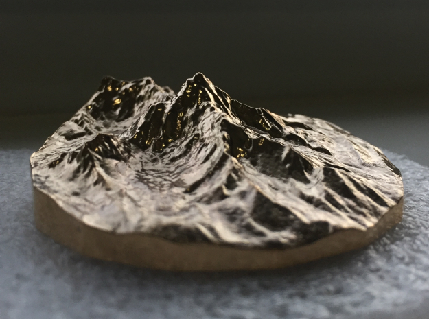 Ama Dablam, 2-inch in Bronze in Natural Bronze
