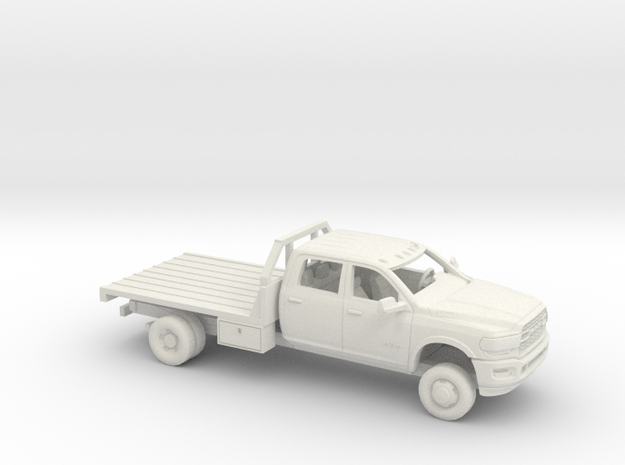 1/64 2020 Dodge Ram Crew Cab Flatbed Kit in White Natural Versatile Plastic