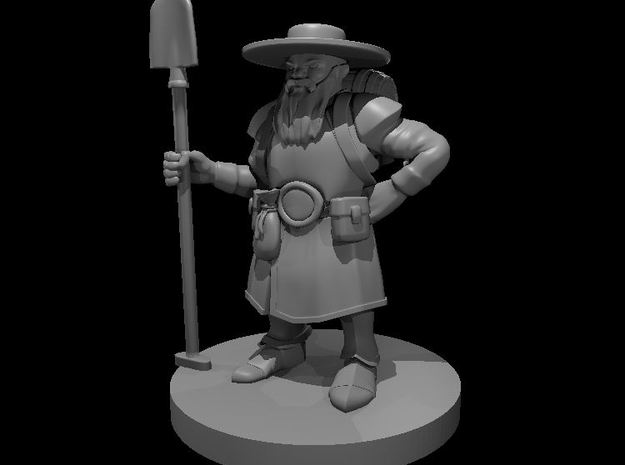 Dwarven Male Grave Cleric in Smooth Fine Detail Plastic