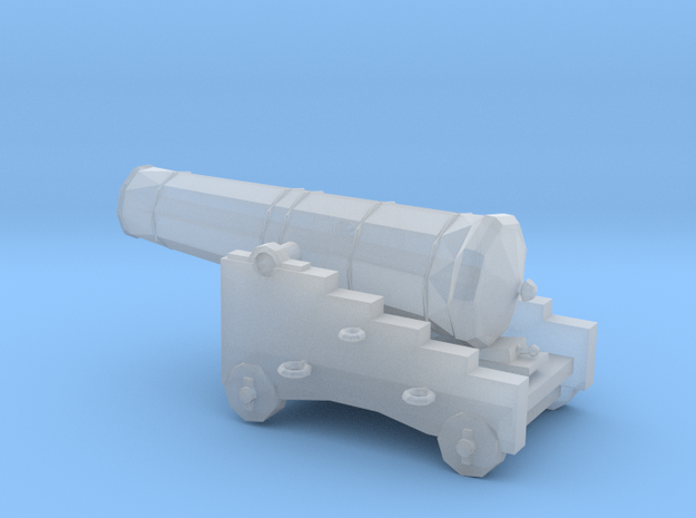 1/96 Scale 24 Pounder Naval Gun in Smooth Fine Detail Plastic