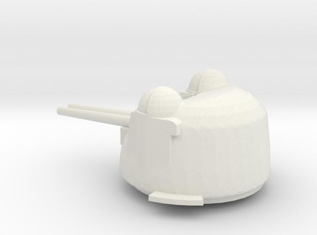 1/96 Scale 3 inch 70 cal mk 37 gun in White Natural Versatile Plastic