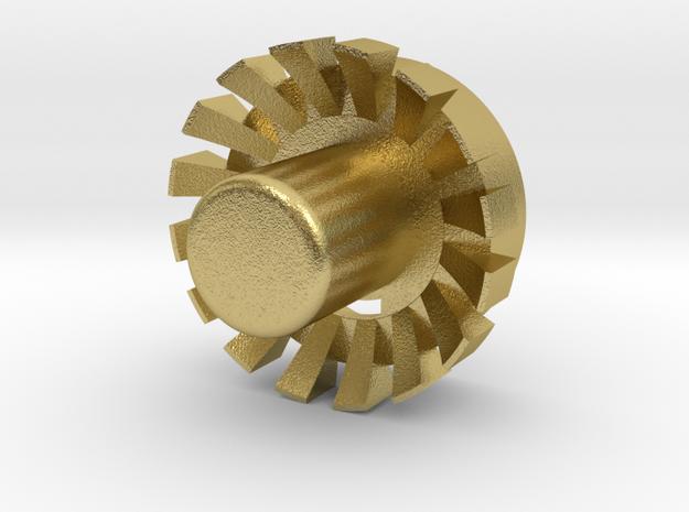 """Blade Plug (OP) 7/8"""" V01 in Natural Brass"""