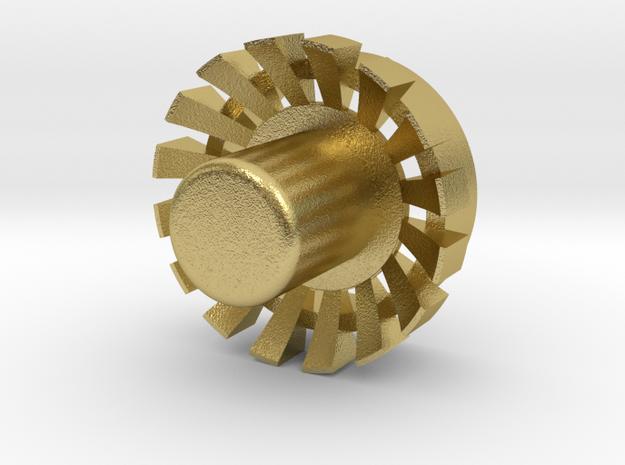 """Blade Plug (OP) 7/8"""" V01B in Natural Brass"""