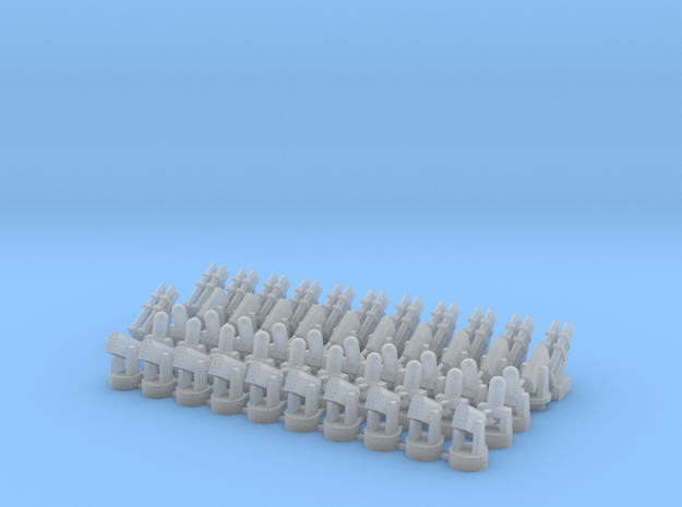20 CIWS + 10 RAM-1 + 10 RAM-2 + 12 Harpoon in Smooth Fine Detail Plastic