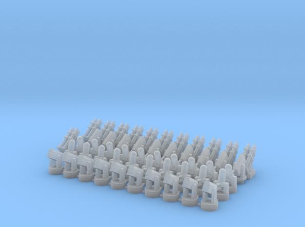 20 CIWS + 10 RAM-1 + 10 RAM-2 + 12 Harpoon in Smooth Fine Detail Plastic